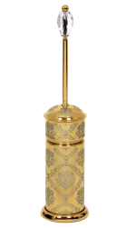 luxusní koš DESENLI GOLD s potahem 24 kt zlata