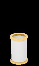 luxusní kartáč na toaletu PORCELAINE GOLD s potahem 24 kt zlata