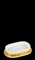 luxusní miska na mýdlo PORCELAINE SILVER