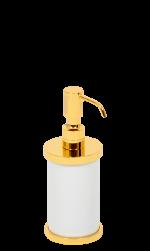 luxusní kelímek na kartáčky PORCELAINE GOLD s potahem 24 kt zlata