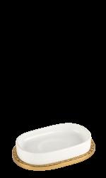 luxusní kelímek na kartáčky PORCELAINE PLATINA