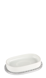 luxusní dávkovač mýdla PORCELAINE PLATINA