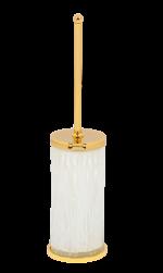 luxusní kartáč na toaletu WAVE GOLD s potahem 24 kt zlata