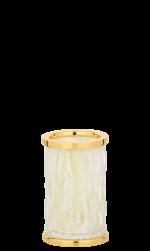 luxusní držák na ručník tyč WAVE patinovaná mosaz