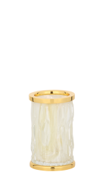 luxusní dávkovač mýdla WAVE patinovaná mosaz
