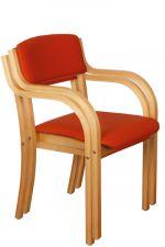 Židle stohovatelná FIONA buková