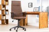 Kancelářská židle LAZIO vintage hnědá