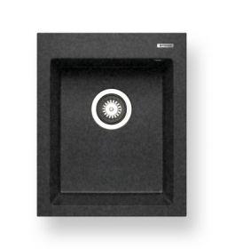 Pyragranitový dřez SIROS 1B (47x51,5) black