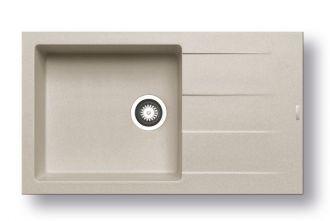 Pyragranitový dřez  ATHLOS 1B 1D PLUS (86x50) beige