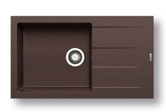Pyragranitový dřez  ATHLOS 1B 1D PLUS (86x50) chocolate