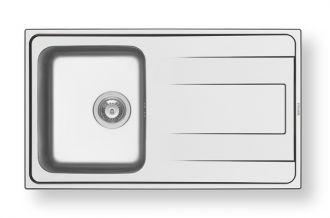 Nerezový dřez vestavný ALEA 1B 1D, polished