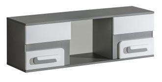 Závěsná skříňka APETTITA 10 antracit/bílá