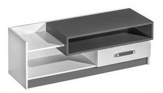 Televizní stolek TRAFICO 10 bílá/popel