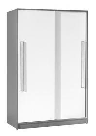 Šatní skříň s posuv. dveřmi GYT 13 antracit/bílá/šedá