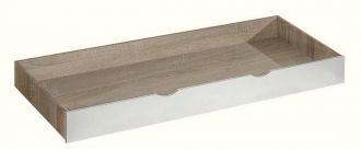 Zásuvka pod postel APETTITA 13 dub jasný/bílá