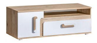 Tv stolek APETTITA 17 dub jasný/bílá