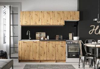 Kuchyně MELVIN 240 s PD dub artisan