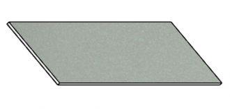 Kuchyňská pracovní deska 180 cm šedý popel (asfalt)