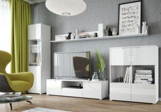 Obývací sestava SELENE bílá lesk