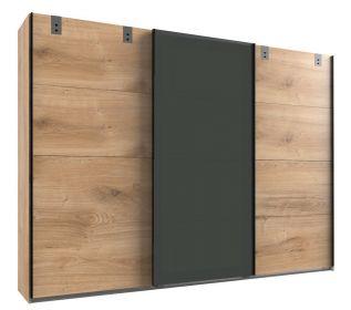 Šatní skříň LOMAZA 797 dubové prkna/šedá grafit