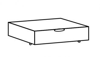 Zásuvka pod postel MARGITA 288 dub bílý