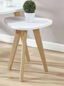 AURA 1 konferenční stolek bílá/buk