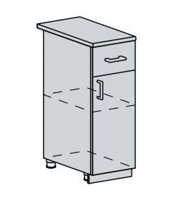 30D1S d. skříňka 1-dveřová se zásuvkou PROVENCE vanilka