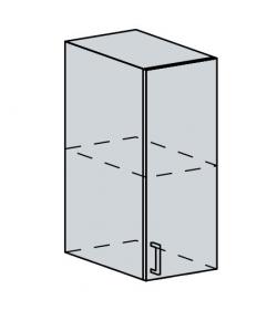 30H h. skříňka 1-dveřová GREECE bk/granát metalic