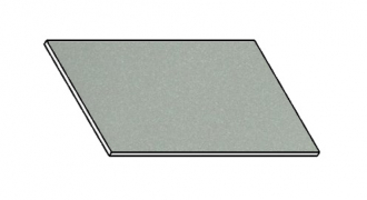 Kuchyňská pracovní deska 30 cm šedý popel (asfalt)