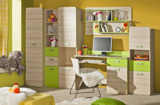 Dětský pokoj LIMO jasan/zelená