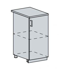 40D d. skříňka 1-dveřová TECHNO bk/oranžová metalic
