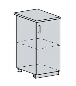 40D d. skříňka 1-dveřová GREECE bk/bílá metalic