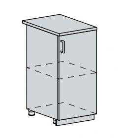 40D d. skříňka 1-dveřová VALERIA bk/black stripe