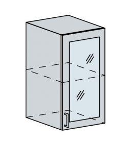 40HS h. vitrína 1-dveřová VALERIA bk/white stripe