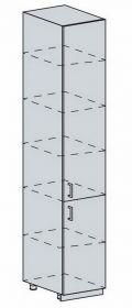 40PV potr. skříň 2-dveřová TECHNO bk/oranžová metalic