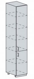 40PV potr. skříň 2-dveřová VALERIA bk/white stripe
