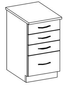 D40S/4 dolní skříňka se zásuvkami CHAMONIX II