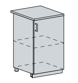 50D d. skříňka 1-dveřová TECHNO bk/oranžová metalic