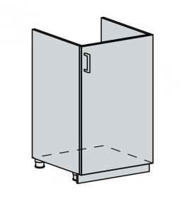 50DZ d. skříňka 1-dveřová pod dřez GREECE bk/bílá metalic