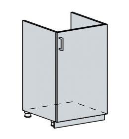 50DZ d. skříňka 1-dveřová pod dřez PROVENCE šedá