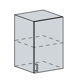 50H h. skříňka 1-dveřová VALERIA bk/black stripe