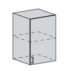 50H h. skříňka 1-dveřová TECHNO bk/oranžová metalic