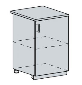 60D1D d. skříňka 1-dveřová TECHNO bk/oranžová metalic