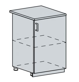60D1D d. skříňka 1-dveřová GREECE bk/bílá metalic