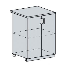 60D d. skříňka 2-dveřová GREECE bk/bílá metalic
