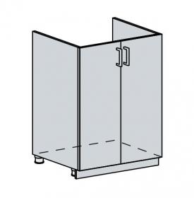 60DZ d. skříňka 2-dveřová pod dřez VALERIA bk/red stripe
