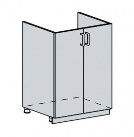 60DZ d. skříňka 2-dveřová pod dřez VALERIA bk/black stripe