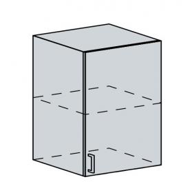 60H1D h. skříňka 1-dveřová TECHNO bk/oranžová metalic