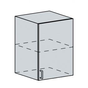 60H1D h. skříňka 1-dveřová GREECE bk/bílá metalic