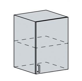 60H1D h. skříňka 1-dveřová VALERIA bk/white stripe